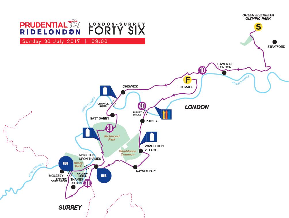 Surrey 46 Route Map