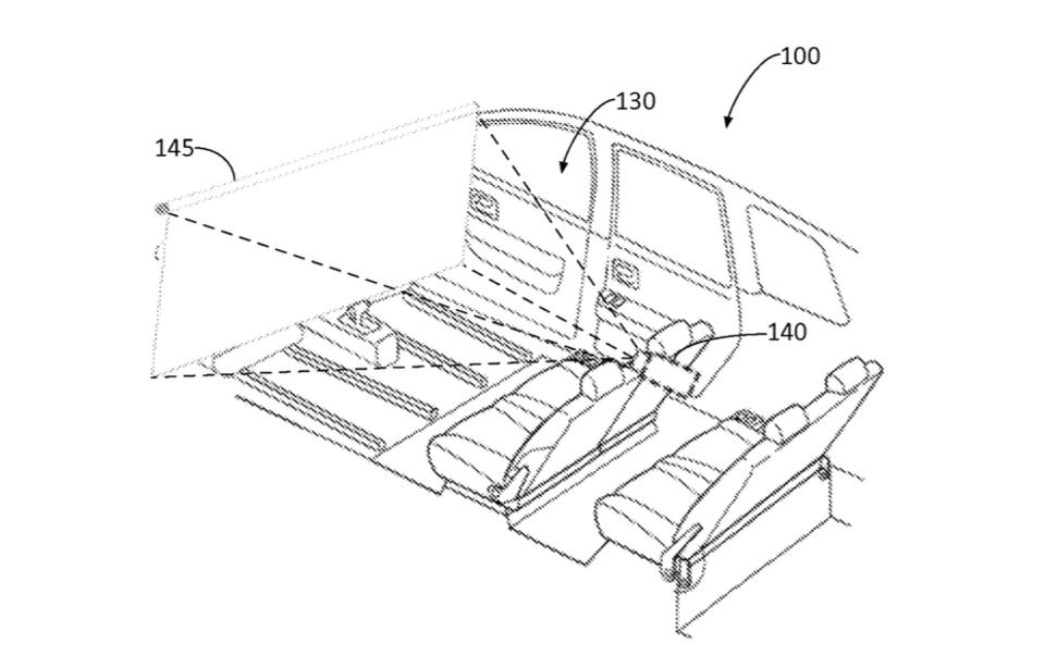 Ford autonomous vehicle entertainment system patent